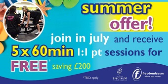 Join in July & get 5 FREE Personal Training sessions