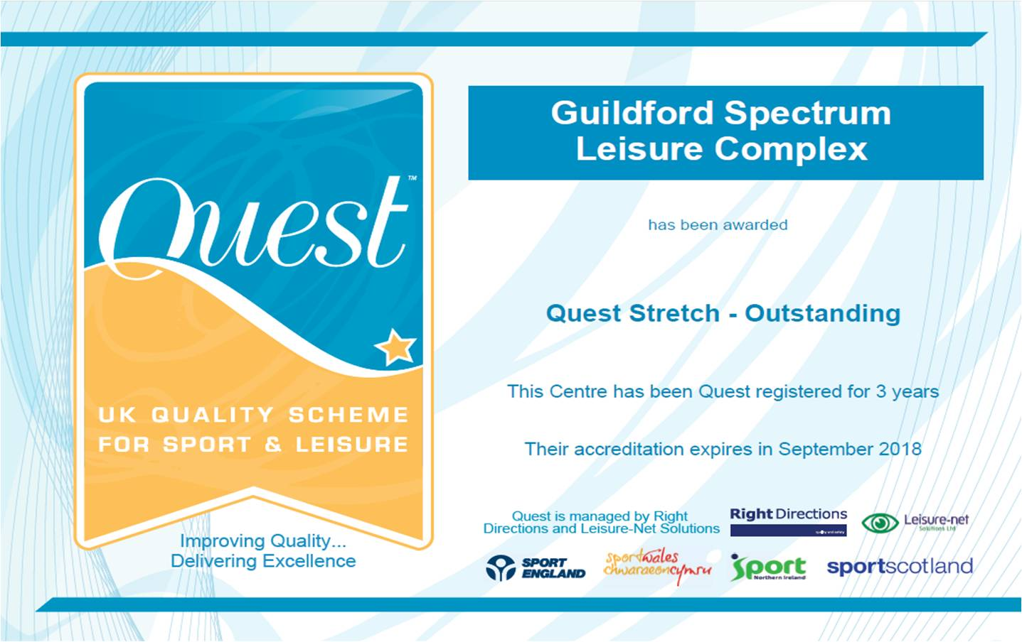 Spectrum is in the top 2.2% of Quest accredited centres in the UK!