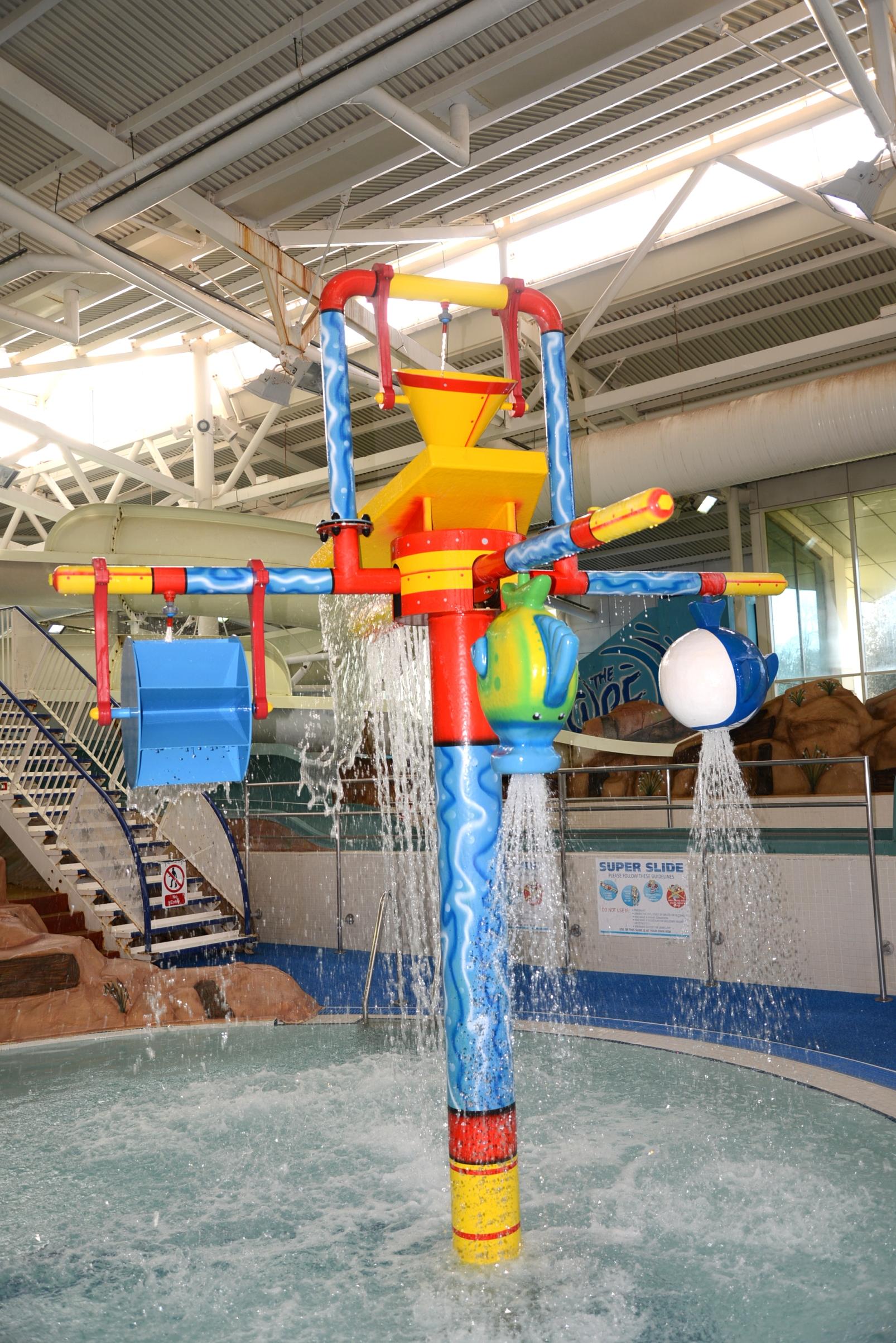 Leisure Pool Water Wheel Feature